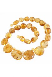Amber bead necklace NP164-1