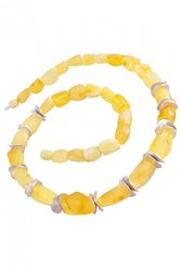 Amber bead necklace NР906