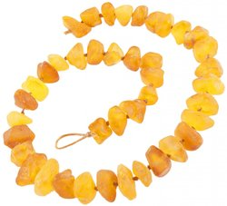 Amber bead necklace Нп-41