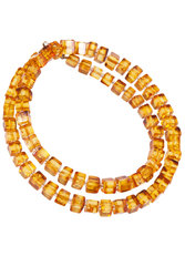 Amber bead necklace NP183-001