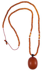 Amber bead necklace KTV29-001