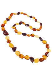 Amber bead necklace NP176-001