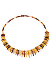 Amber bead necklace NP174-001