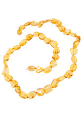 Amber bead necklace NP176