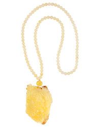Amber bead necklace KU Hotey-001