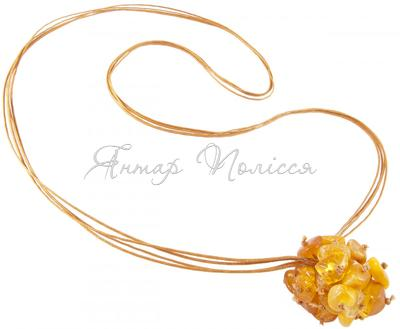 Amber bead necklace Нп-06