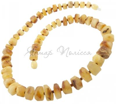 Amber bead necklace Нш-62а