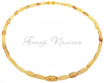 Amber bead necklace Нш-83