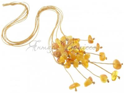 Amber bead necklace Нп-26