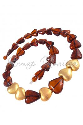Amber bead necklace NР902