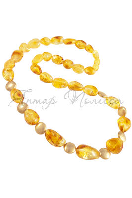 Amber bead necklace NР904