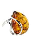 Кольцо с каплевидным камнем янтаря «Тереза»