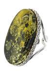 Серебряное кольцо с камнем янтаря «Ларина»