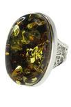 Кольцо из серебра и янтаря «Белинда»