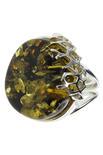 Серебряное кольцо с янтарем «Юна»