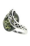 Серебряное кольцо с янтарем «Морган»
