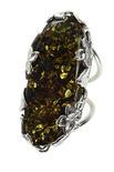 Кольцо из серебра и янтаря «Емира»