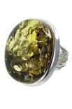 Серебряное кольцо с янтарем «Бритни»