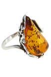 Кольцо из серебра и янтаря «Амелия»