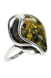 Серебряное кольцо с камнем янтаря «Тамара»