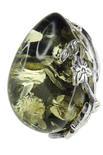 Серебряное кольцо с камнем янтаря «Летнее настроение»