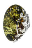 Кольцо из серебра и янтаря «Летнее настроение»
