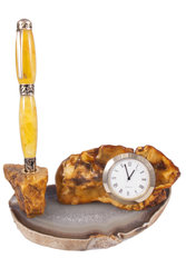 Pen decorated with amber SUV000688-001